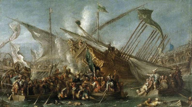Корнелис де Валь. Абордаж. 1592