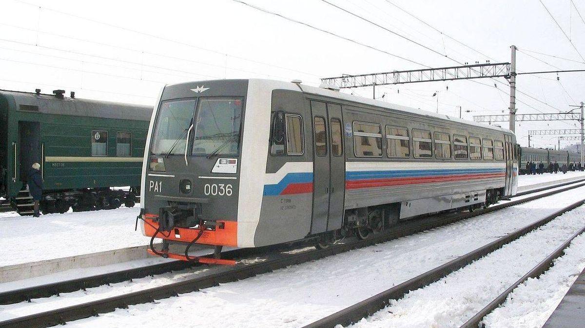 Российский рельсовый автобус РА1-0036 модель 731