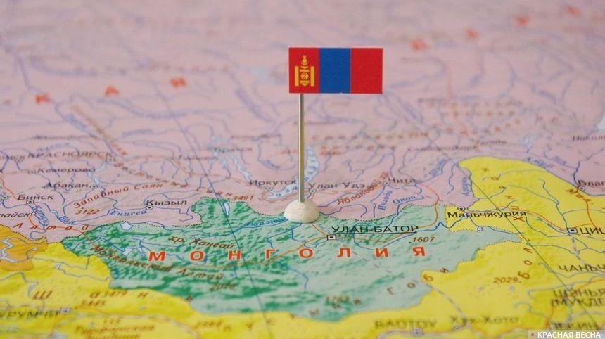 Российско-монгольская граница на карте