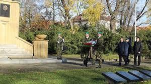 Открытие мемориала красноармейцев-освободителей города Оломоуце