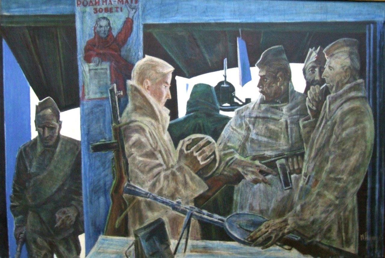 «Солдаты 1941 года», живопись, М.Аникеев