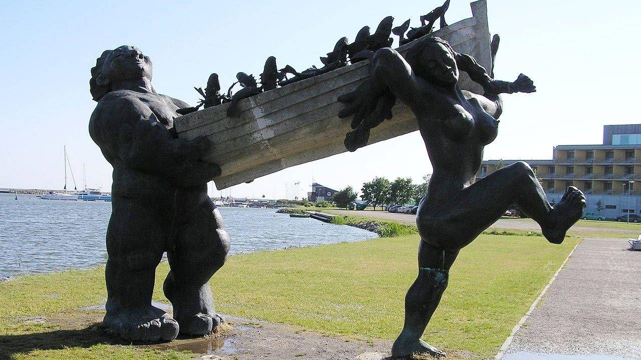 Большой Тылль и его жена Пирет. Персонажи эстонской мифологии