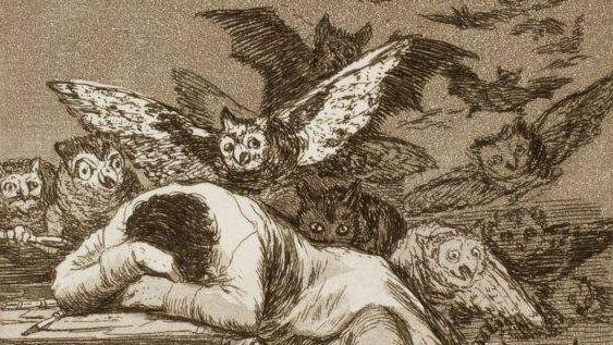 Франсиско Гойя. Сон разума рождает чудовищ (Фрагмент). 1799