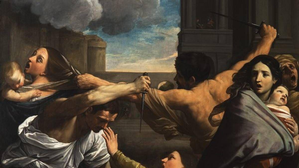 Гвидо Рени. Избиение младенцев (фрагмент). 1612