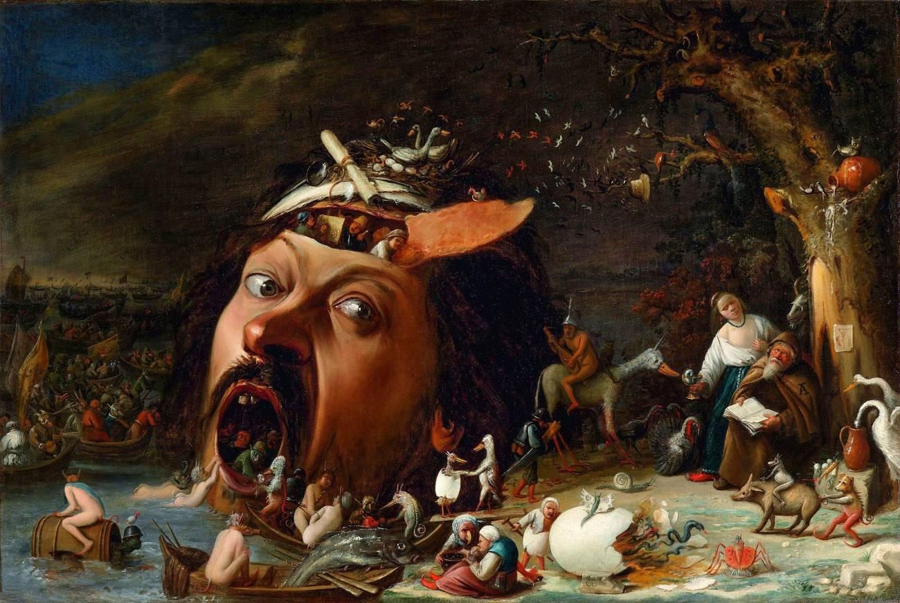 Йос ван Красбек. Искушение святого Антония. Холст, масло. 78х116. 1650