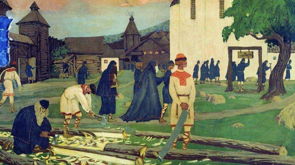 Борис Кустодиев. В монастыре. 1907