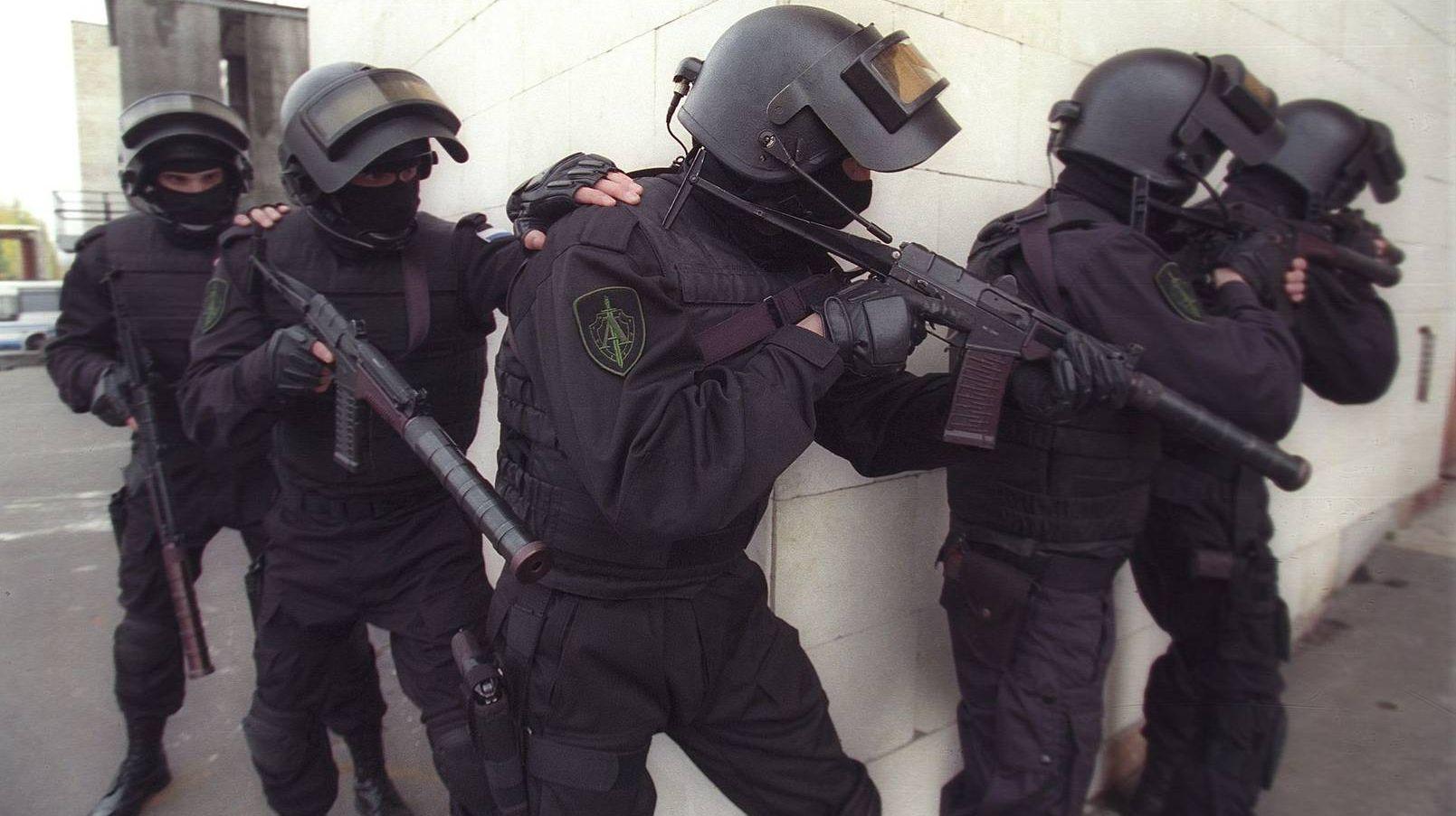 Бойцы Управления «А» ЦСН ФСБ России