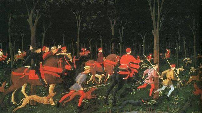 Паоло Уччелло. Охота в лесу. XV век