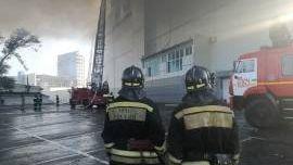 Ликвидация пожара. Проспект 100-летия Владивостока. Владивосток