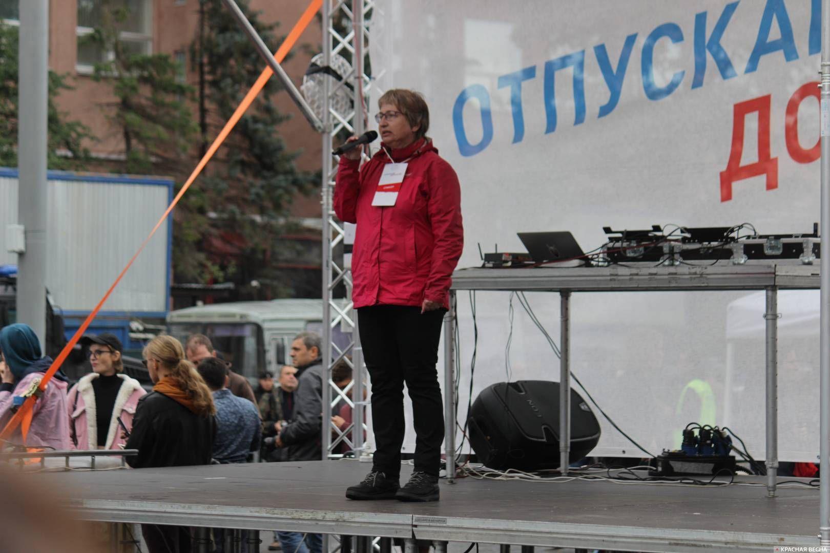 Незарегистрированный кандидат от партии «Яблоко» Елена Русакова