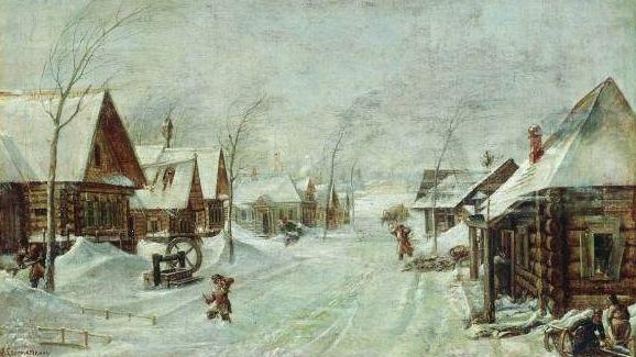 Леонид Соломаткин. Метель. 1876