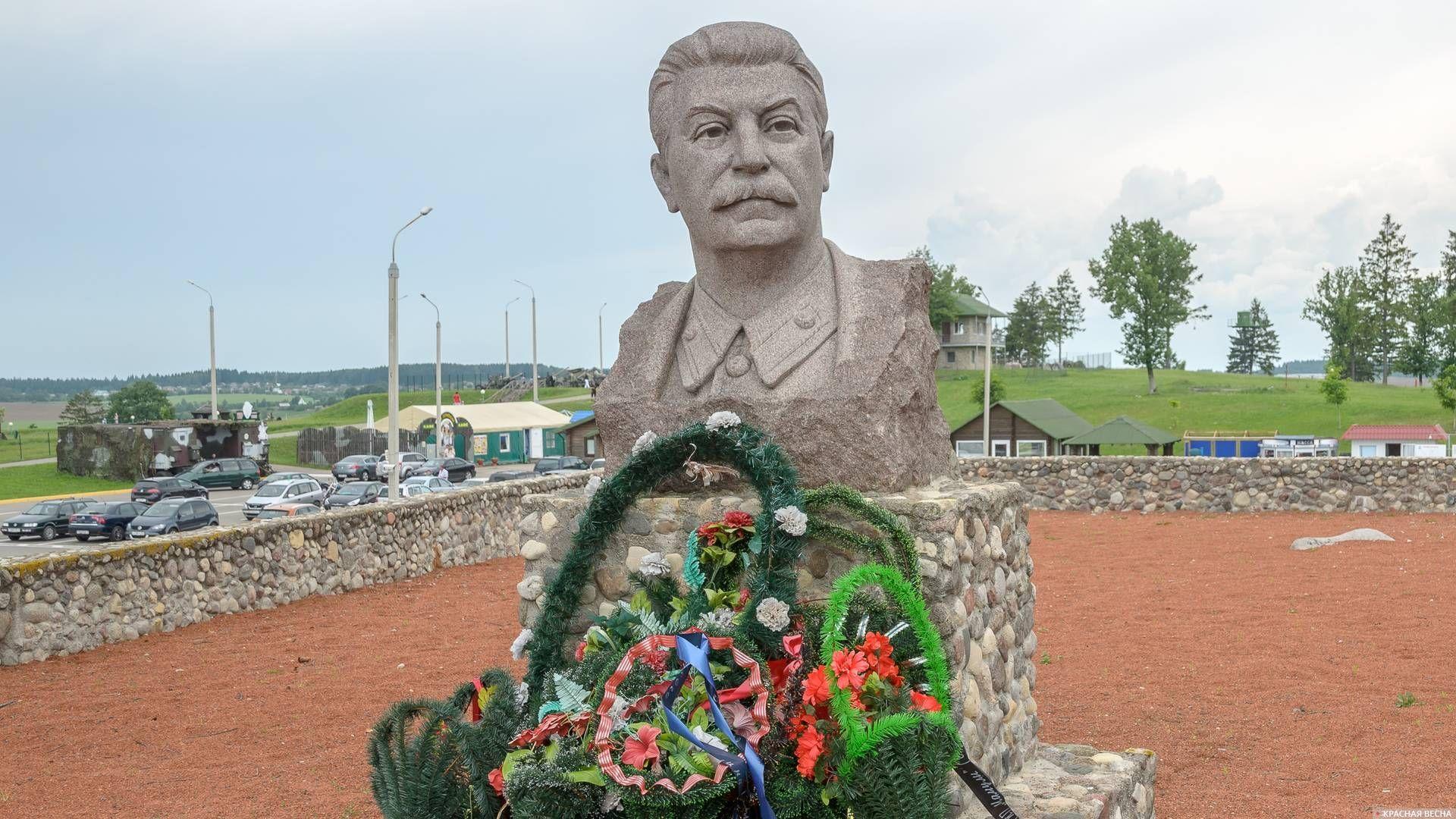 Памятник Иосифу Виссарионовичу Сталину, комплекс «Линия Сталина», Белоруссия 09.06.2013