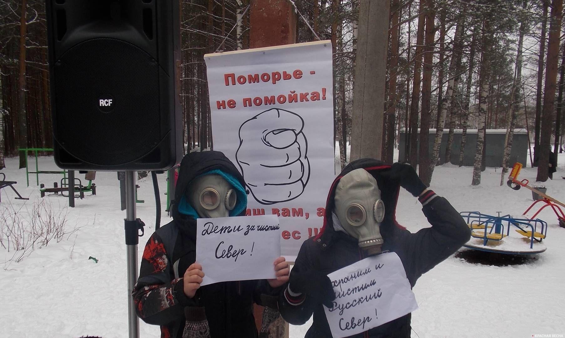 Дети поселка за чистый Север. п. Вычегодский 9 декабря 2018г.