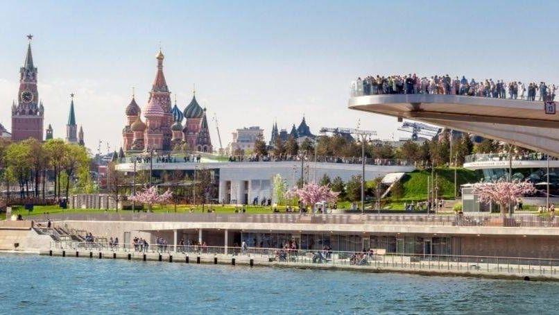 Парящий мост в Парке Зарядье, Москва