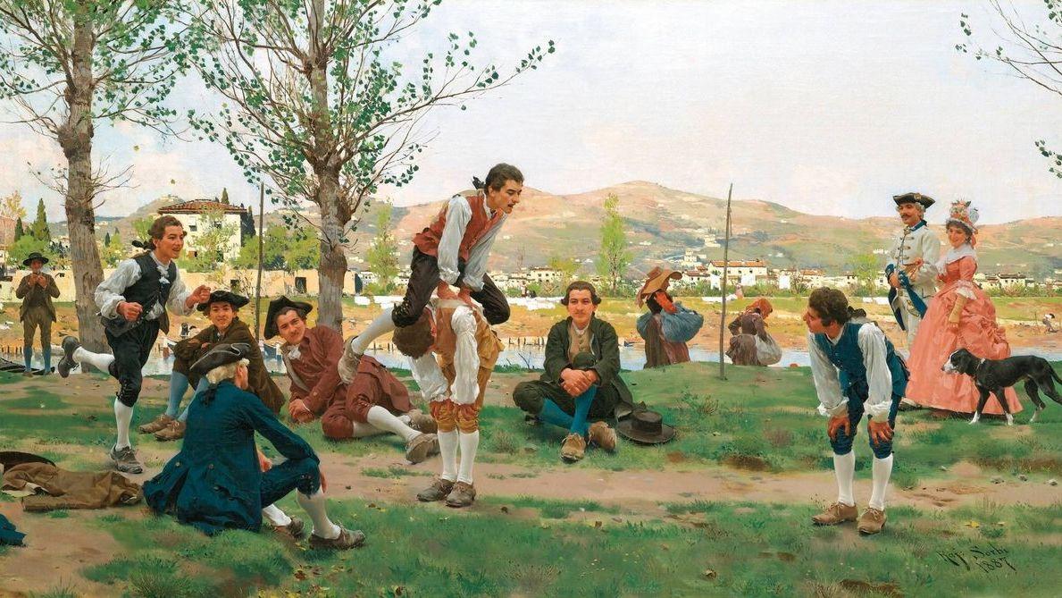 Рафаэлло Сорби. Чехарда. 1887