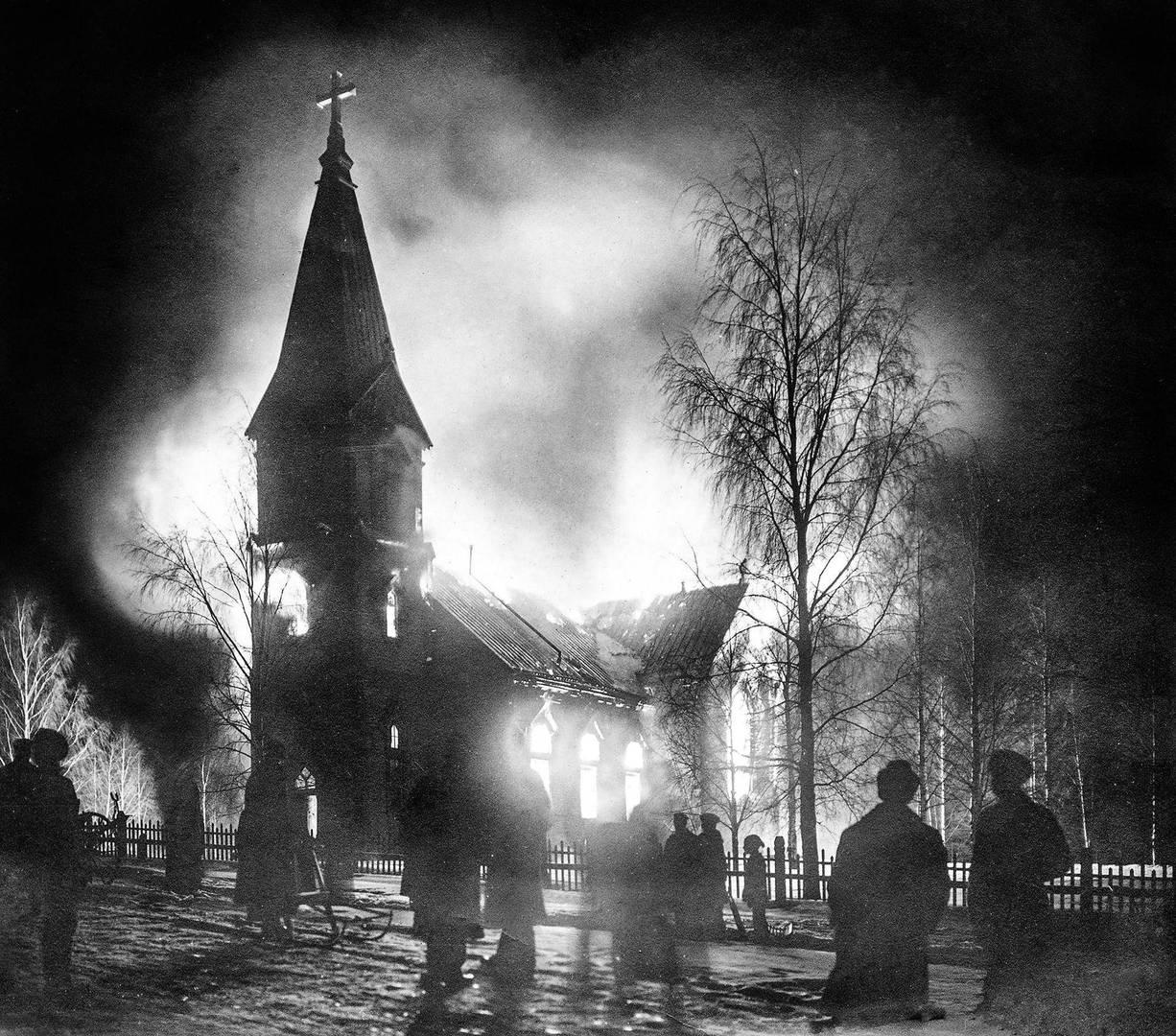 Пожар в церкви