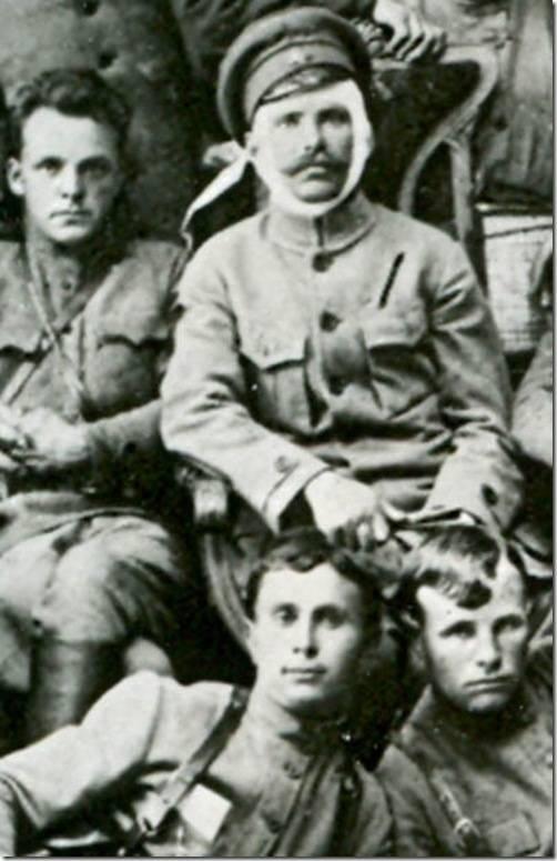 Фрагмент группового снимка командно-политического состава 25-й стрелковой дивизии. (1919)