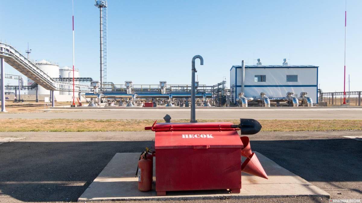 Пожарный щит, нефтяная насосная станция