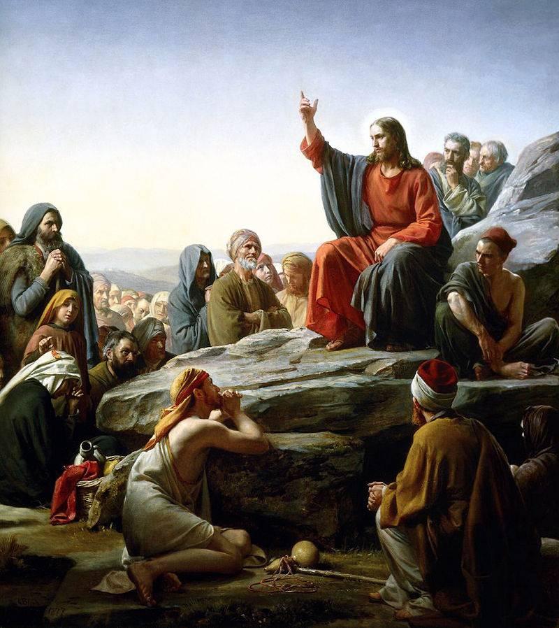 К. Г. Блох. «Нагорная проповедь». 1877