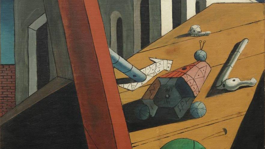 Джорджо де Кирико. Злой гений короля (фрагмент). 1914–1915