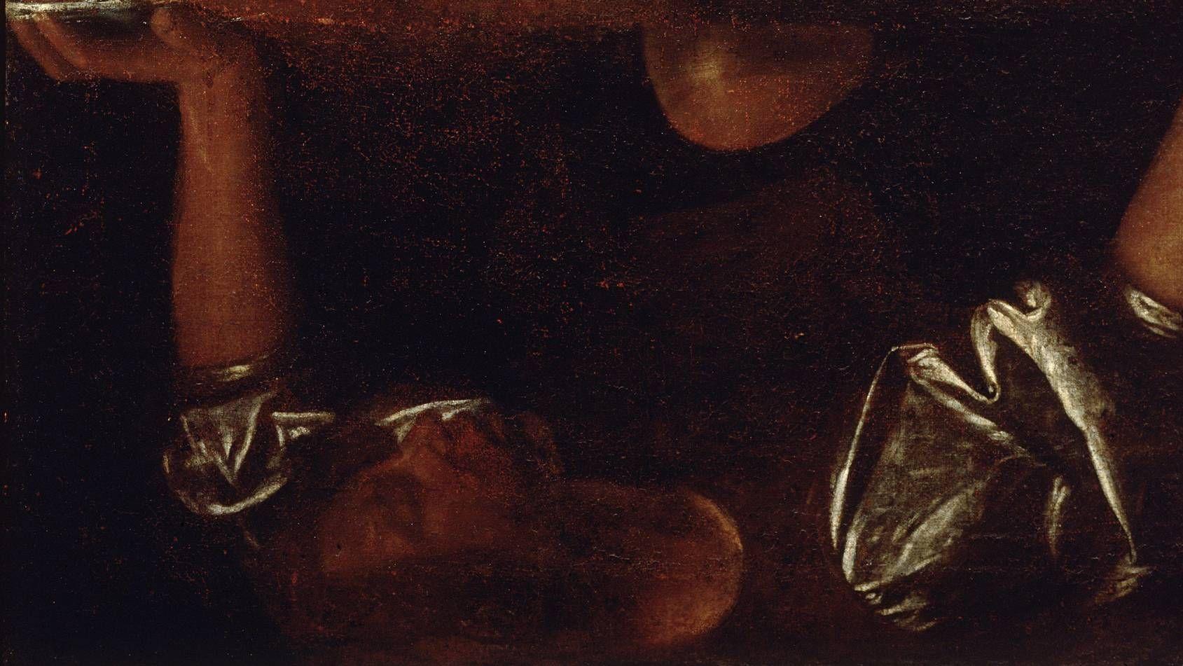 Караваджо. Нарцисс (фрагммент). 1594-96