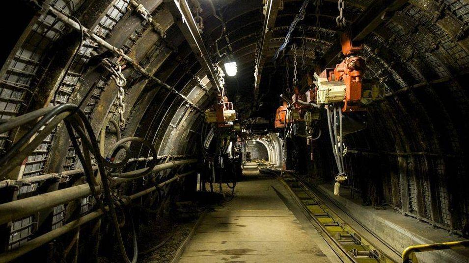шахта, подземный, машина