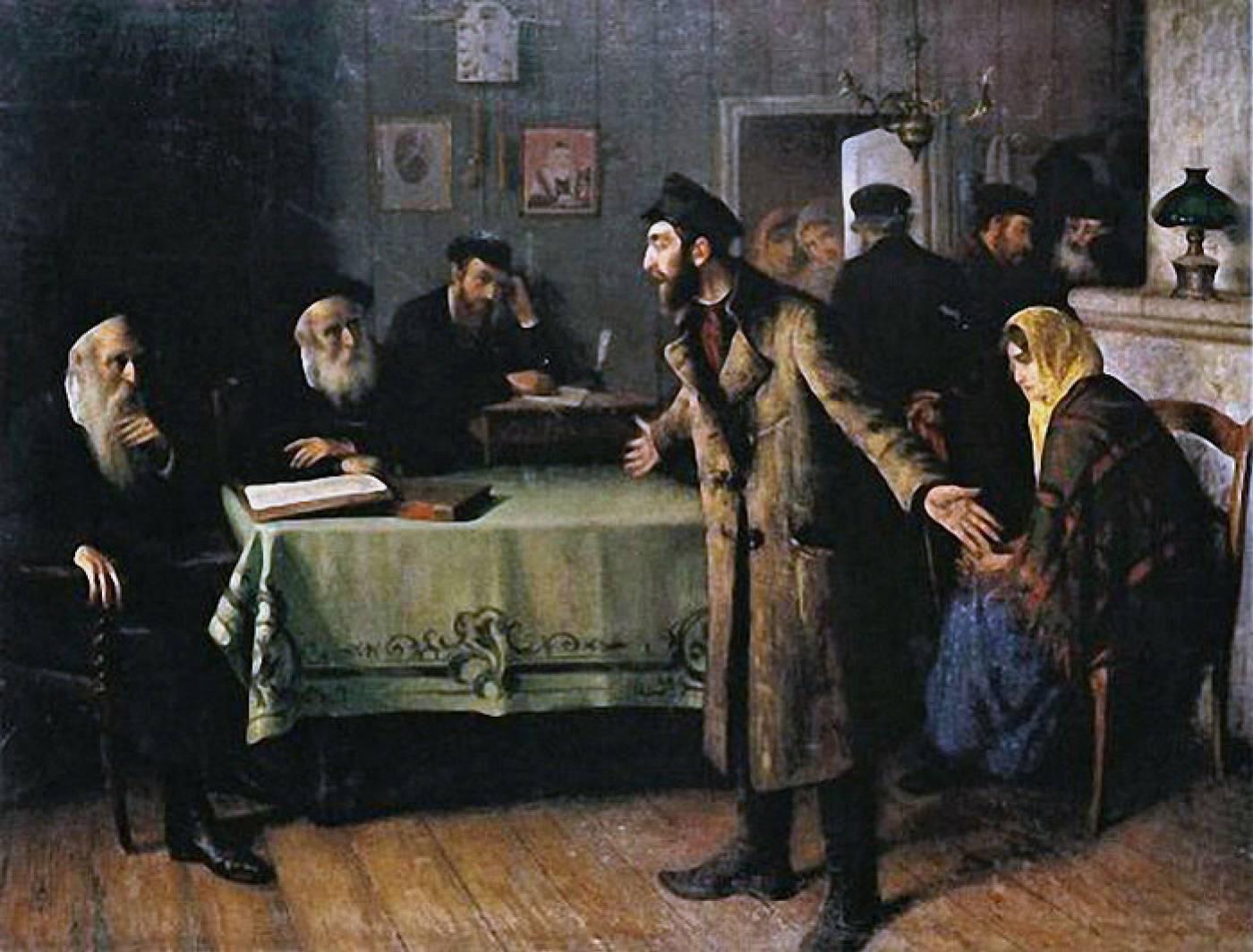 Юдель Пэн. Развод. 1907