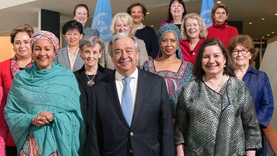 Более половины высших руководителей ООН - женщины. Антониу Гутерриш и женщины-руководители в ООН