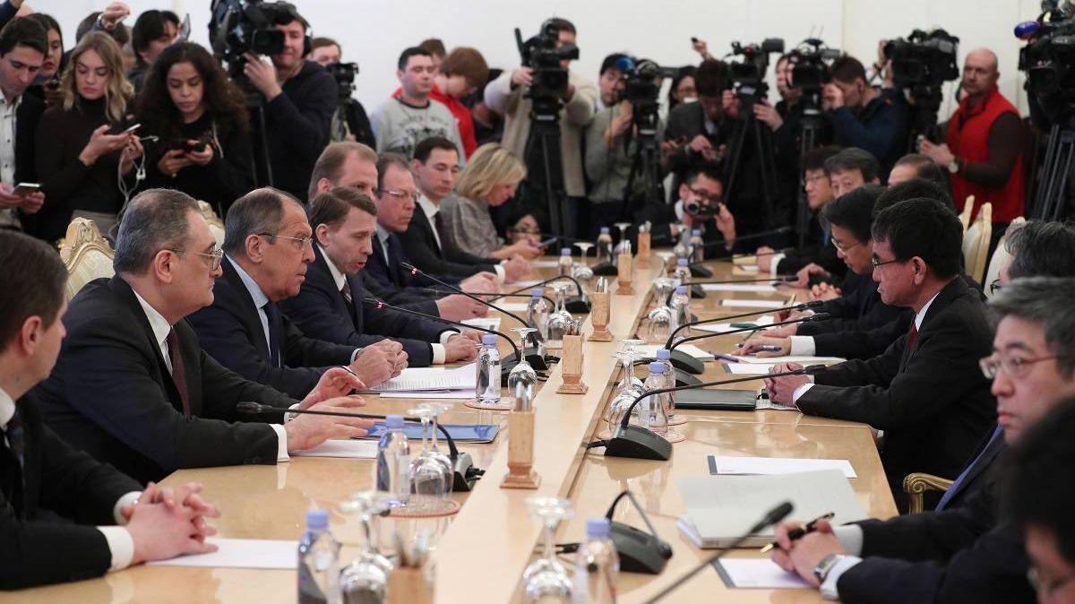 Вступительное слово Министра иностранных дел России С.В.Лаврова в ходе переговоров с Министром иностранных дел Японии Т.Коно, Москва, 14 января 2019 года
