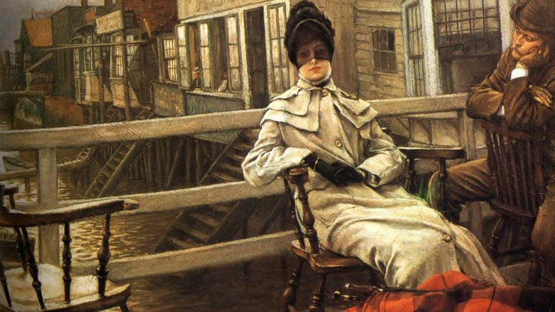 Джеймс Тиссо. Ожидание парома. Фрагмент. 1878