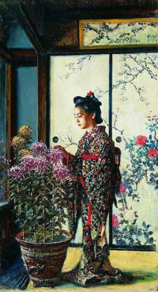 Василий Верещагин. Японка. 1903