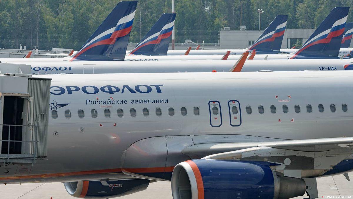 Самолеты авиакомпании Аэрофлот в аэропорту Шереметьево