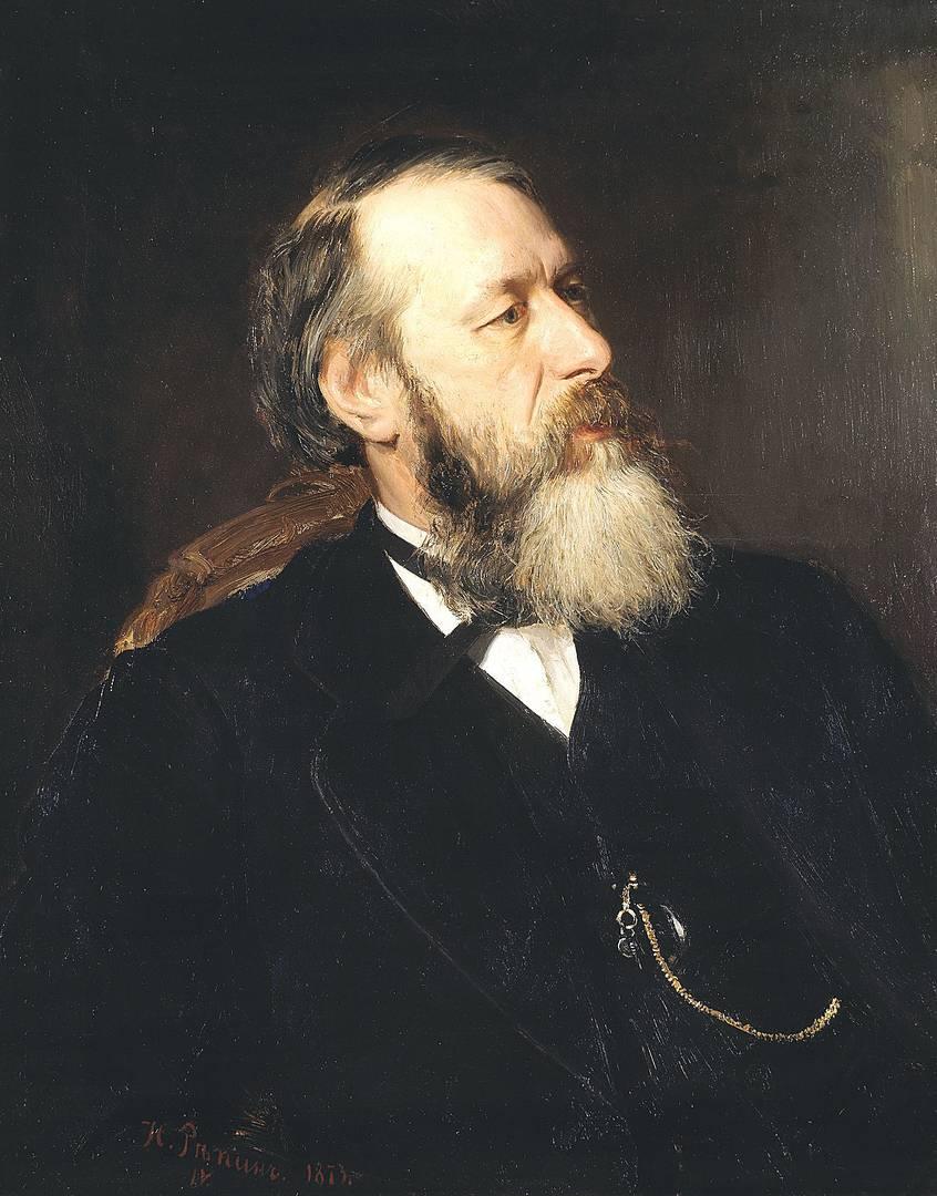 Илья Репин. Портрет Владимира Стасова. 1873