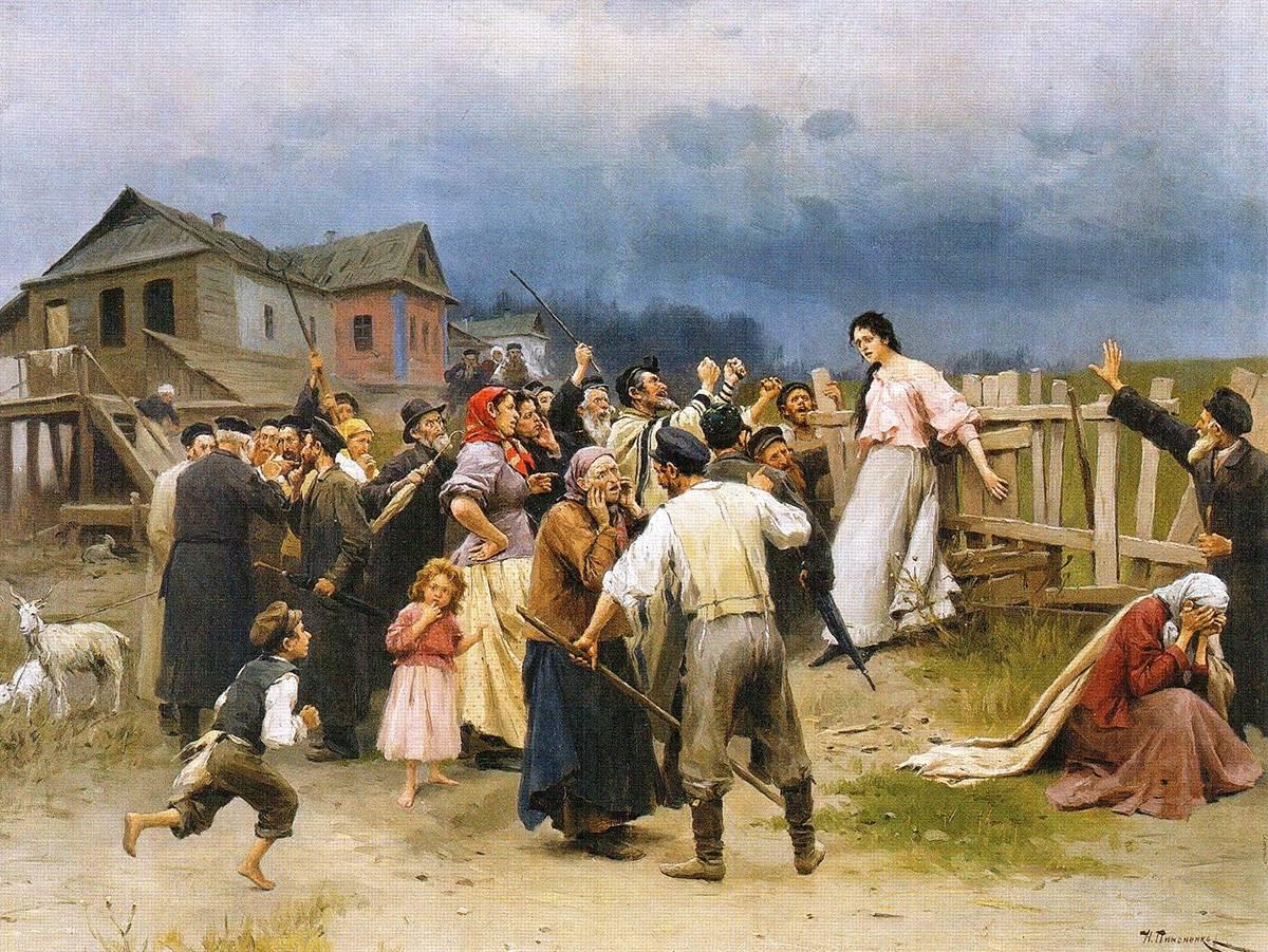 Николай Пимоненко. Жертва фанатизма. 1899