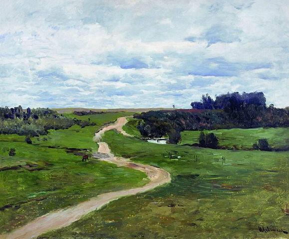 Исаак Левитан , Дорога (1898)