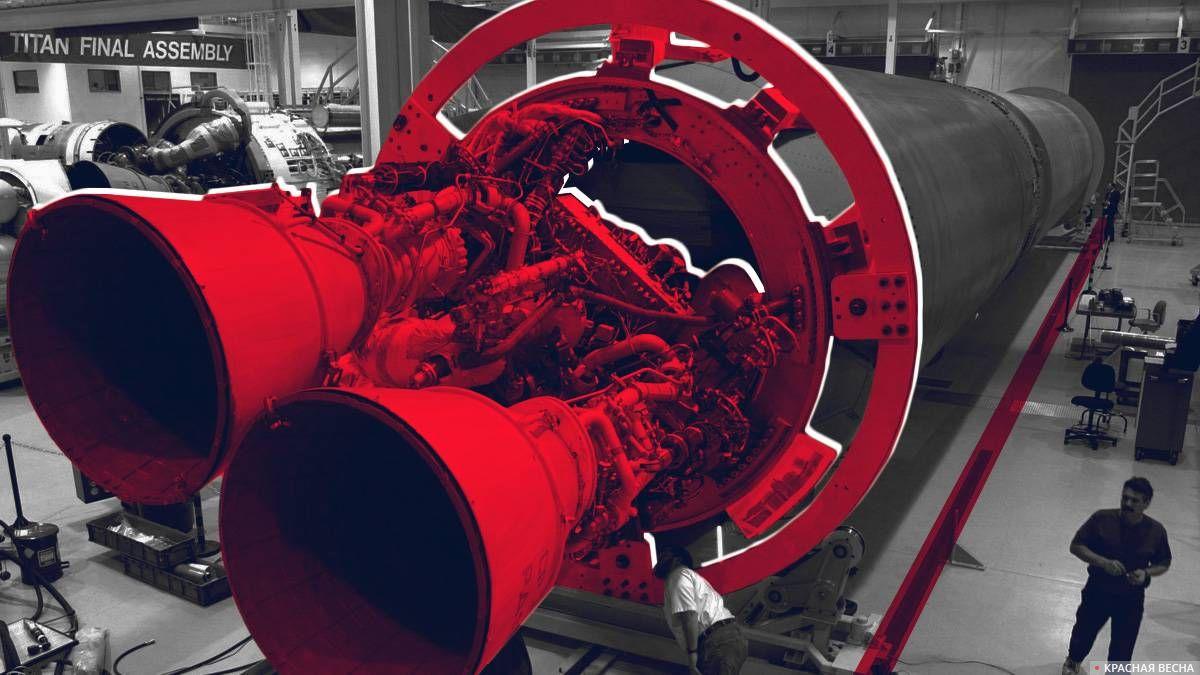 Ракетный двигатель РД-180 на ракете Атлас-5