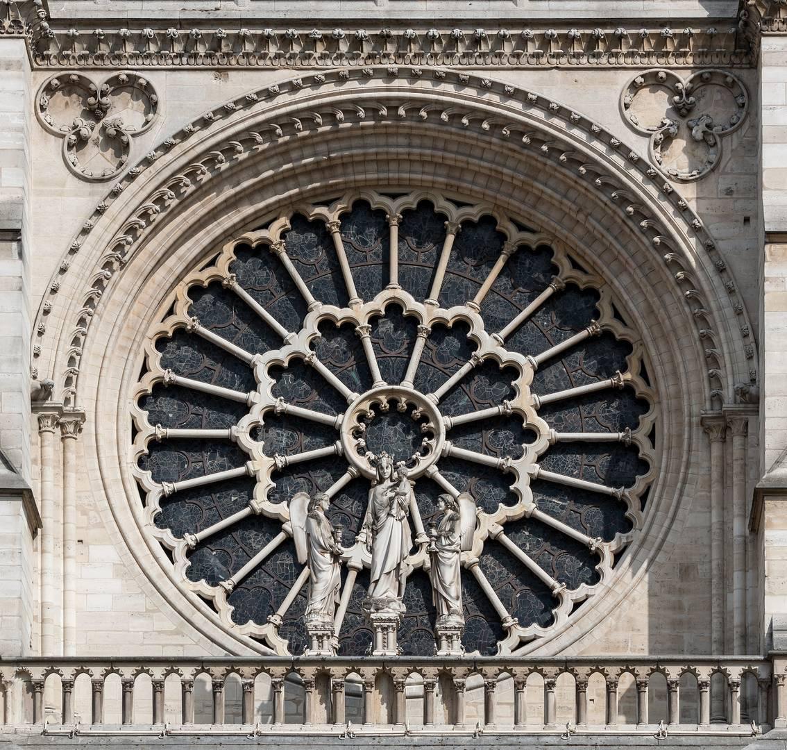 Роза западного фасада Собора Парижской Богоматери