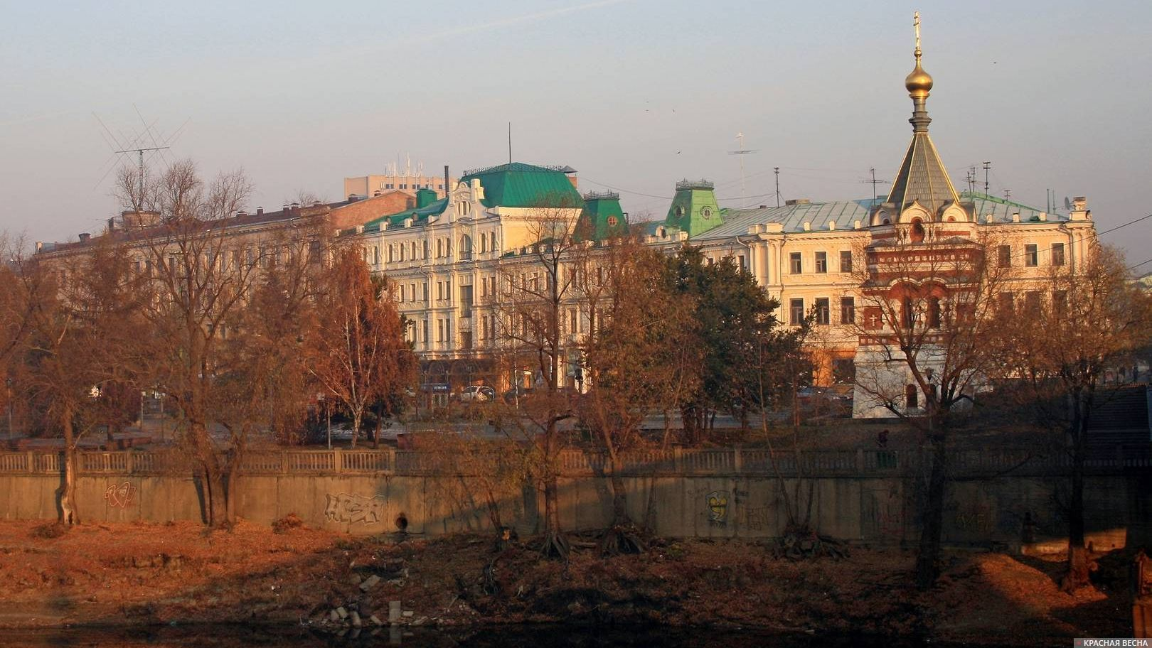 Вид на Воскресенский сквер. Омск