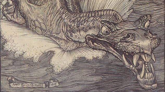 Рэкхэм Артур. Левиафан (фрагмент). Начало XX века