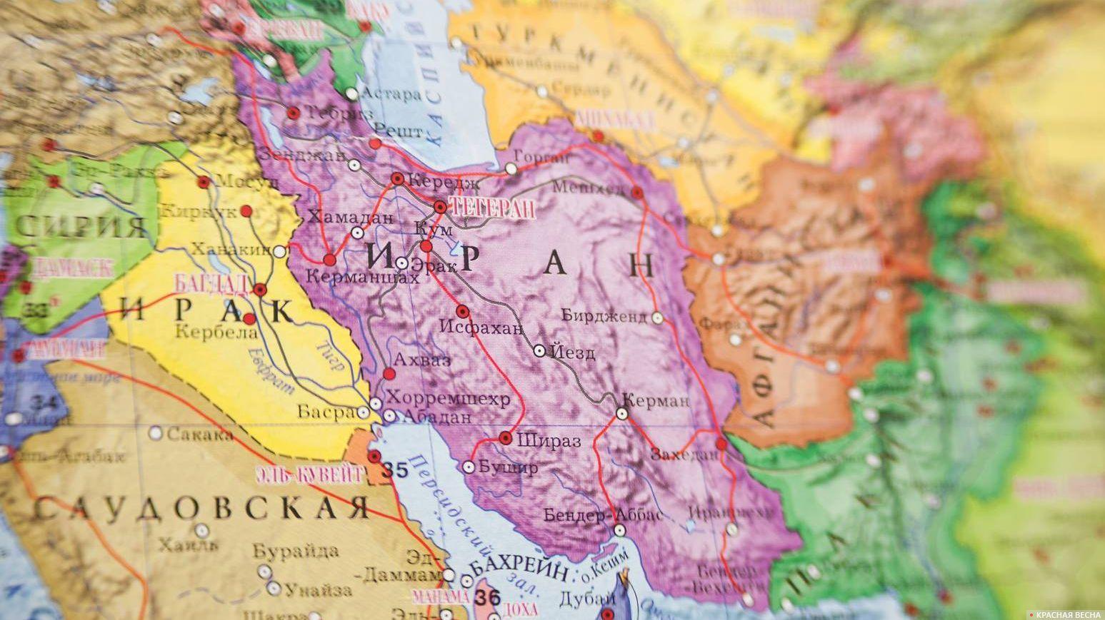 Иран Карта мира