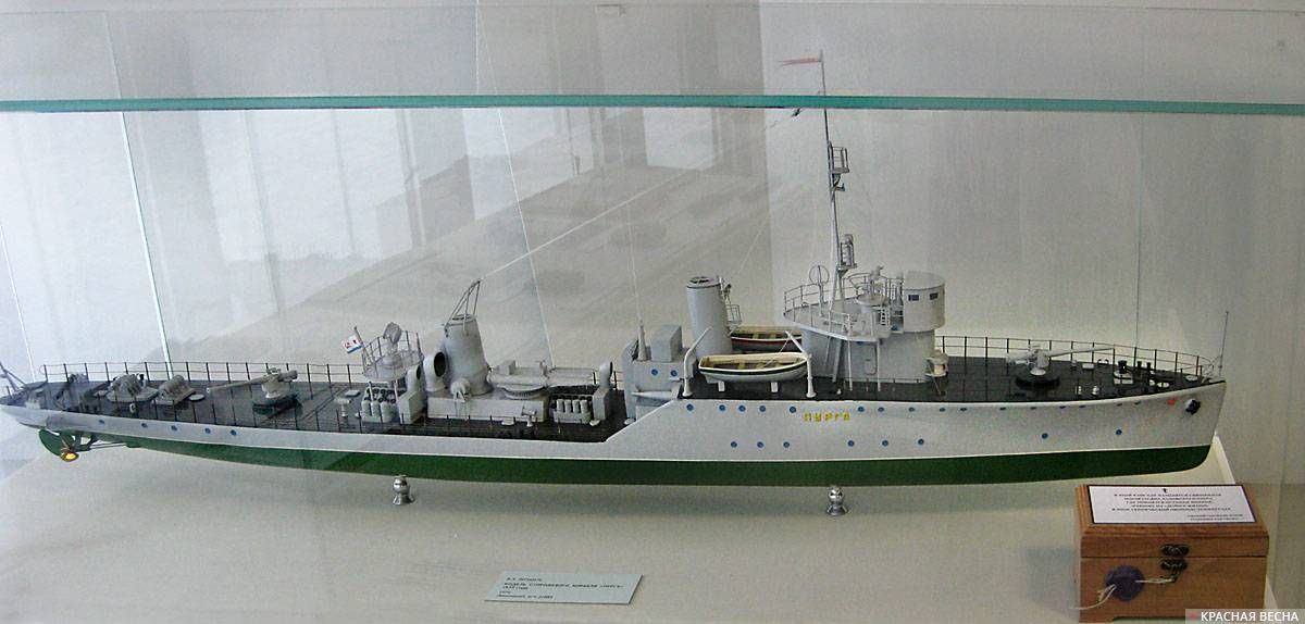 Модель сторожевого корабля «Пурга» 1935 года (1974)