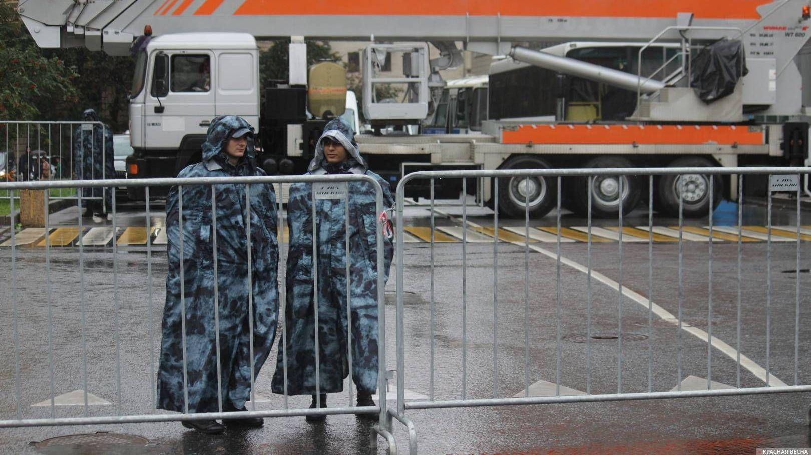 Оцепление полицией в Москве, 10.08.2019г.