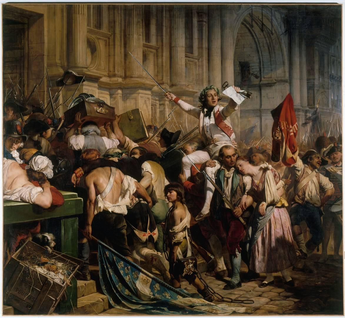 Поль Деларош. Победители Бастилии перед Ратушей. 14 июля 1789 года. 1830