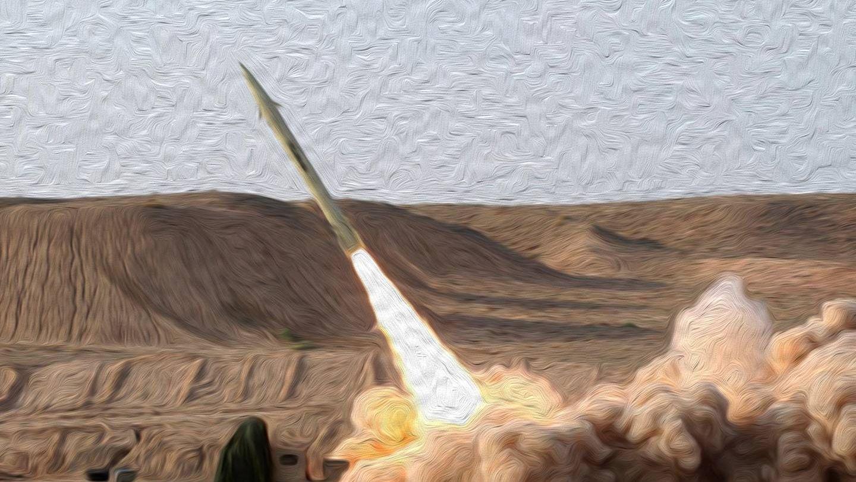 Запуск тактической ракеты