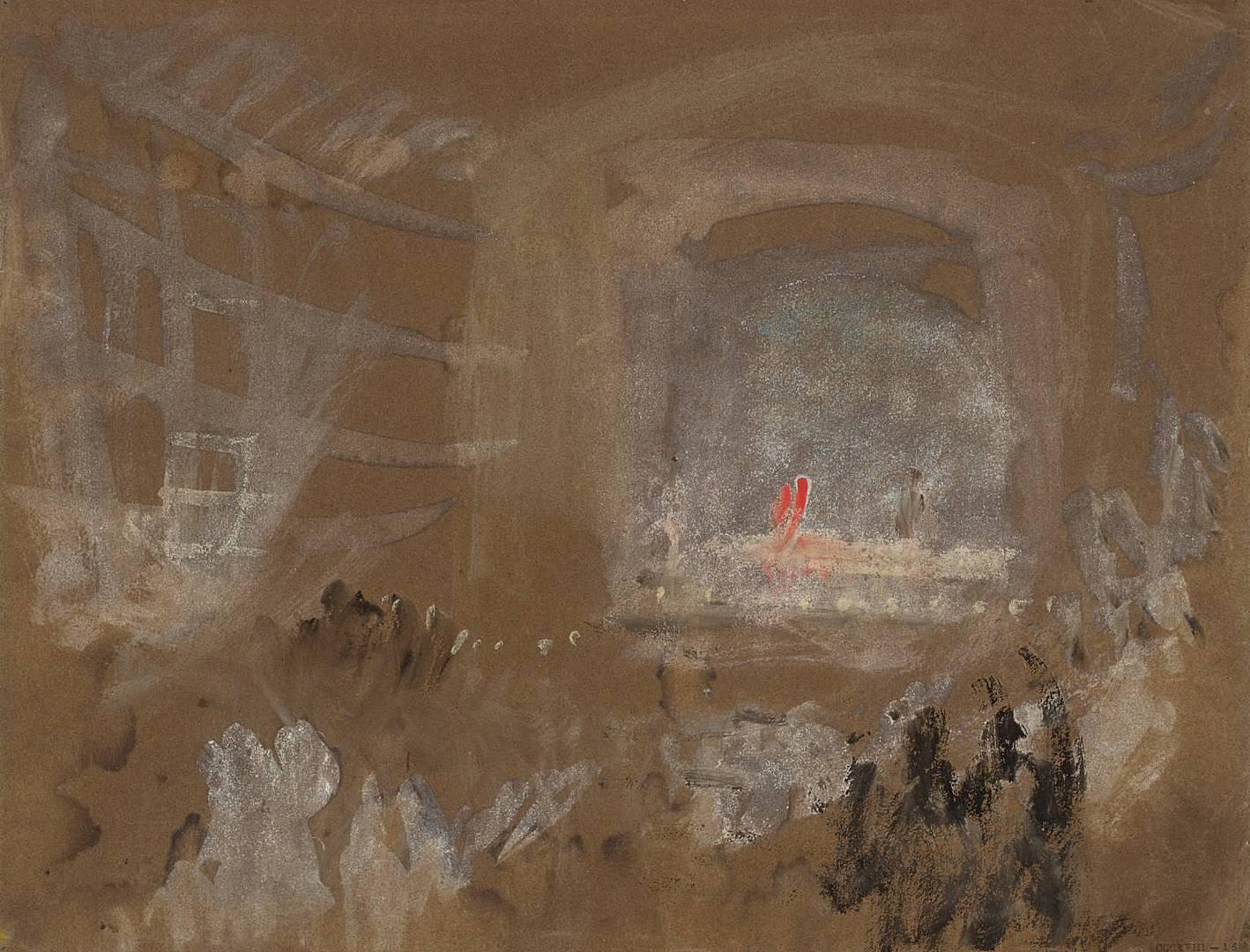 Уильям Тёрнер. Венеция, интерьер театра. Ок. 1840
