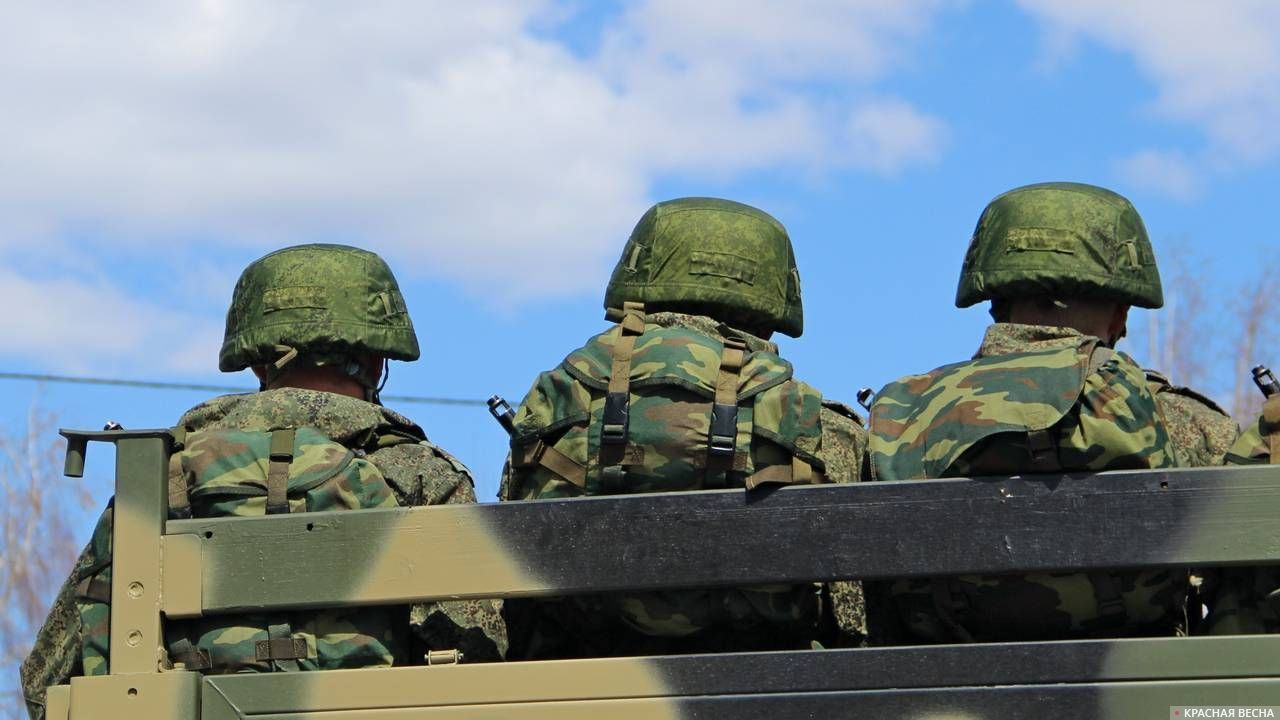 Солдаты в кузове