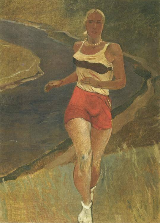 Александр Дейнека. Бегунья. 1936