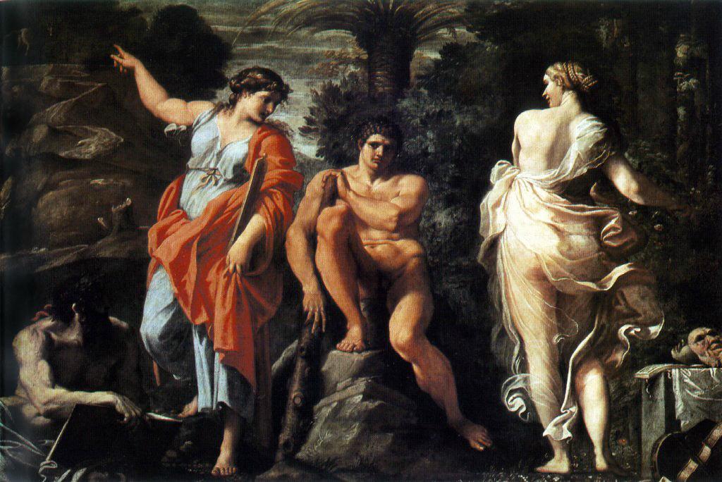 Аннибале Карраччи. «Выбор Геракла» (ок. 1596). Музей Каподимонте