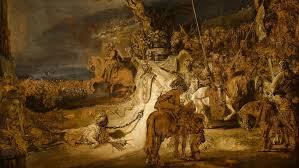 Рембрандт. Соглашение нидерландских провинций. Фрагмент