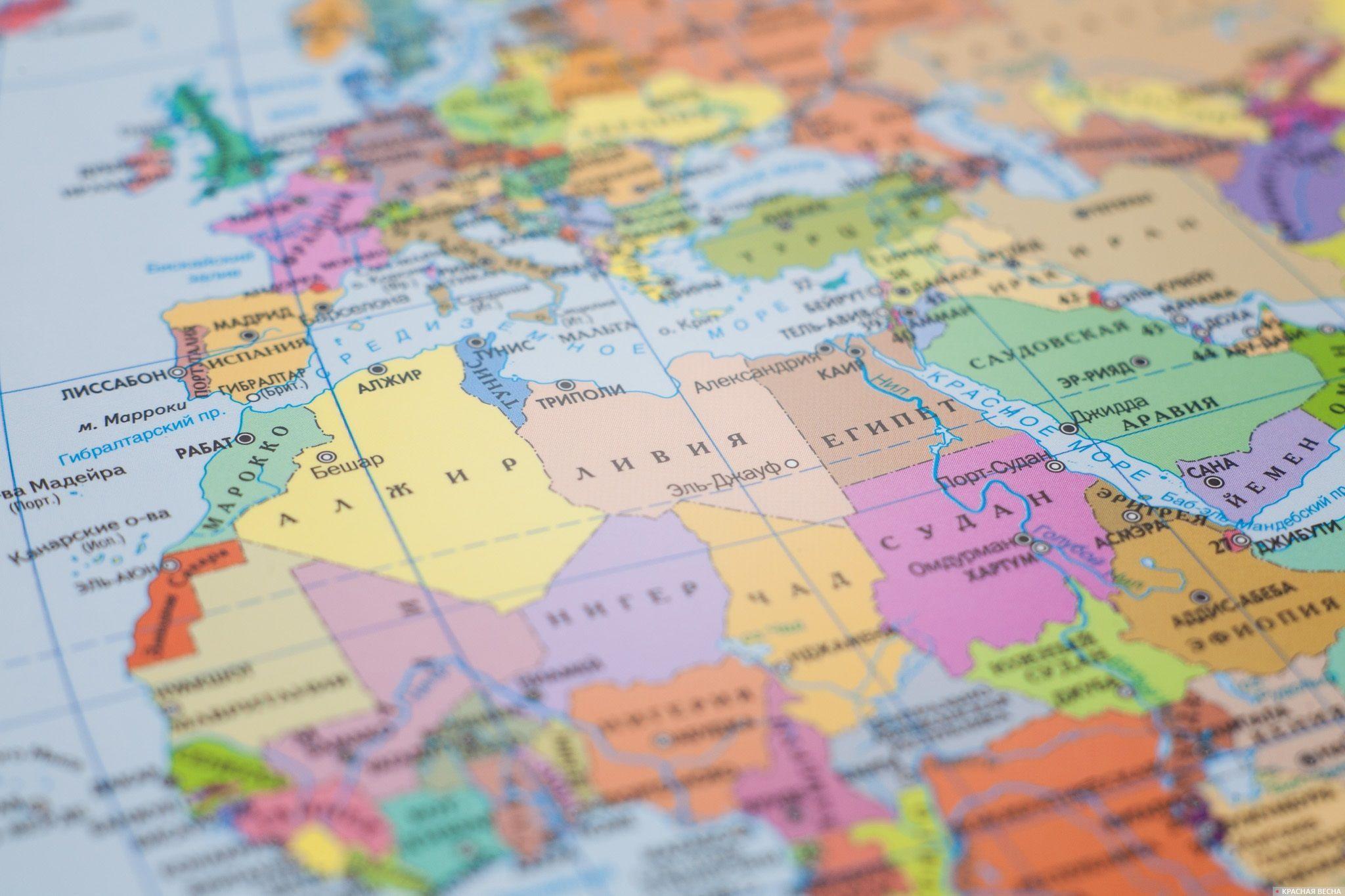 Африка Северная Африка карта